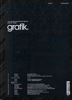 Grafik #swizz #grafik #cover #grid #magazine