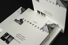 Les Flâneuses on the Behance Network #edition #center #print #book #brown #art #typo #thumbnails #typography