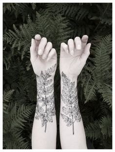 Fern & Crystal Temporary Tattoo Kit - NATURE GIRL From the Forest #temporary tattoo #leaf