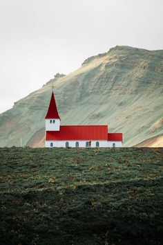 Beautiful Church in Vik, Iceland