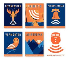 Amtrak Signals It Now Has Wi-Fi #amtrak #set #advertising #illustration #series