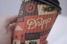 Dripp Coffee Cup #packaging #illustration #coffee