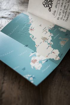 Eat Surf Live #print #map #publication #sea