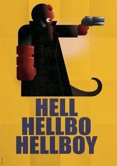 Gimme Bar | Hellboy (A.M. Cassandre homage) #cassandre #hellboy #gregoire #guillemin #poster #homage
