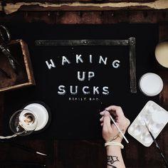 Waking up sucks by Christian Watson