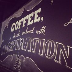Chalkboard for Mojo Coffee. #amazing #white #black #chalk #chalkboard #coffee #type #typography