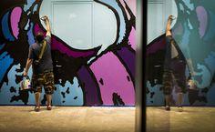 CJWHO ™ (Bold Two Story Einstein Mural by Artist David...) #albert #design #interiors #illustration #einstein #art #street