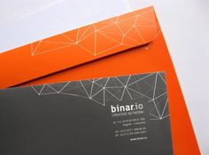 Binar.io | Lovely Stationery #emboss #stamp #business #card #design #graphic #identity