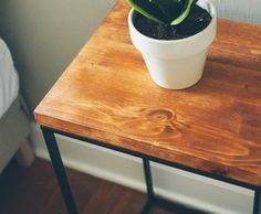 Laundry Hamper turned Beautiful Modern Side Table - IKEA Hackers #make