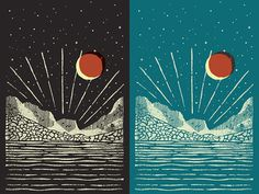 Northern Sky - Fossil Illustration by Jonathan Schubert #illustration #poster