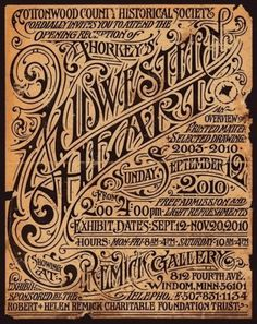Aaron Horkey's Upcoming Solo Show Poster #flyer #illustration #vintage #poster #type #typography