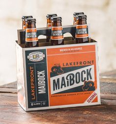 beer, maibock, bottle, design, orange, blue, ram