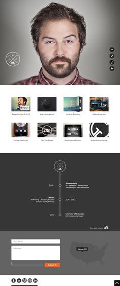 Justin Graham #website #clean #web #flat #ui #ux