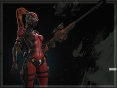 Lady DeadPool by Andey Svorodin | Sci Fi | 3D | CGSociety #lady #deadpool