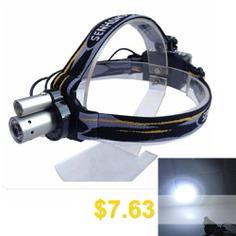 Sencart #Double #LED #Headlamp #Headlight #Waterproof #Head #Lamp #Outdoor #Camping #Fishing #headlights #- #BLACK