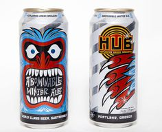 Hopworks Abominable Winter Ale Can #packaging #beer
