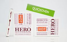 Quickoven packaging #packaging #typography #food #hot #fun #green