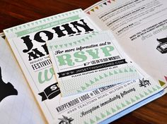 Megan and John Wedding Invitation - FPO: For Print Only #print #invitation