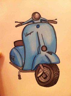 Vespa Drawing