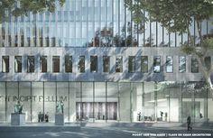 gevelfragment exterieur Hoge Raad highres.jpg 2.000×1.299 pixels #claus #visualisation #en #illustration #concept #architecture #vray #kaan #3d