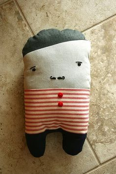 I Made You a Beard #stripes #handsom #doll #mustache #cute #man #guy #toy