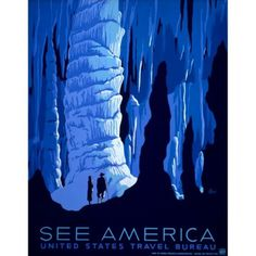 Fab.com | See America, Carlsbad Caverns #blue #cave #wpa #poster