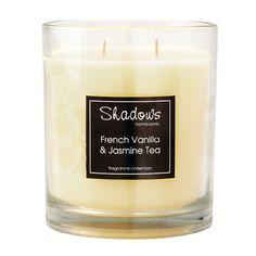 2-Wick Jar French Vanilla & Jasmine Tea Scented Candle