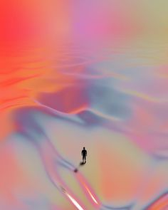 Always set yourself a goal, even if it seems out of reach. Artwork by Quentin Deronzier #hj #artwork #3D #colors #colorful #explore #dunes