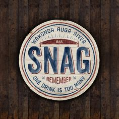 SNAG Bar on Behance #logo #vintage #typo