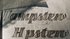 House Industries - Blog #lettering #hand #sketch #typography