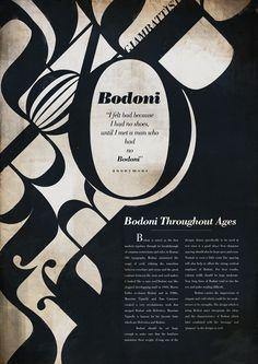 Bodoni Typeface #type specimen poster