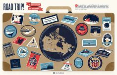 Roadtrip! The Song Map of Canada #canada #design #song #map #road #illustration #typo