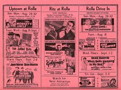 All sizes | Rolla, MO Movie Theaters Schedule | Flickr - Photo Sharing! #cinema #poster