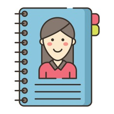 See more icon inspiration related to notepad, book, phonebook, phone book, communications, education, user, interface, contacts and agenda on Flaticon.