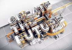 3D Typography by Peter Tarka #lettering #3d #typography