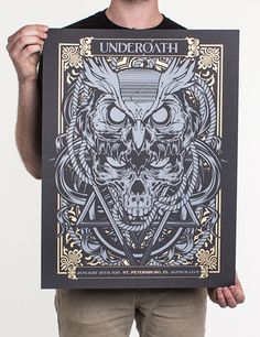 Underoath Official storefront powered by Merchline #underoath #hydro74 #tour #poster