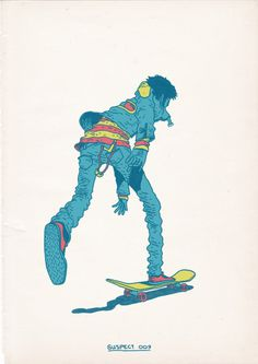 Kumi Yamashita #skateboarding #illustration #colorful #yamashita #awesome