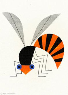 illustration, bold, bug, orange, wing