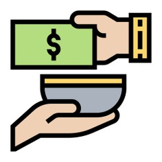 See more icon inspiration related to give, money, cash, largess, hands and gestures, charity, donate, donation and hands on Flaticon.