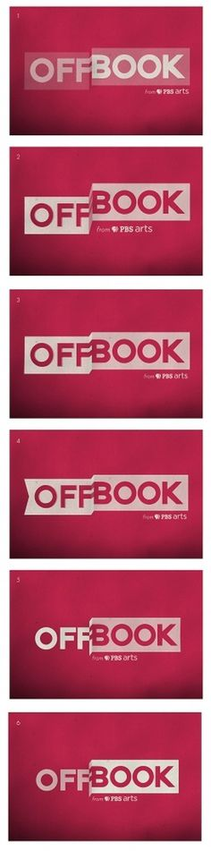 OFFBOOK logo process : Kelli Anderson #offbook