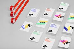 Film Commission Chile #hey studio #branding #identity #geometric #colour stripes