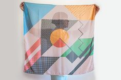 Retro Scarf #scarf #retro #colourful