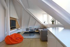 Attic Flat in Bratislava – Rhapsody in White by at26