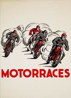 All sizes | Motorraces | Flickr - Photo Sharing! #joop #van #lithography #motor #berg #litho #motorraces #bike #poster #den #dutch #races