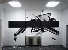 Via Grafik // From Wall to Screen to Everything™ #abstract #geometric #graphic #wall painting #graffii #abstract #geometric #graphic #wall