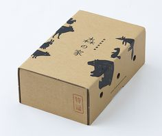akaoni design #cardboard #packaging #japanese #box #kraft #animals