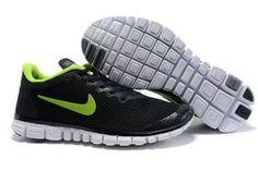 Nike Free 3.0 V2 Black Volt-Mens #shoes