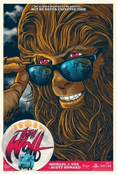 teen wolf 1985 regular screen print by ghoulish gary