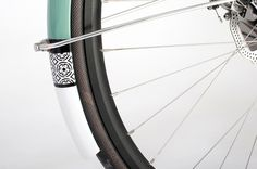 donhou_green_05 #fender #pattern #bicycle #wheel #bike