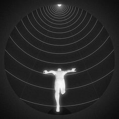 Consumed by the light #man #circle #runner